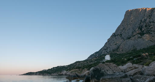 Mount Kush-Kaya, Laspi Bay, Crimea. Fixed distortion. Time Lapse Footage