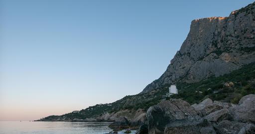 Mount Kush-Kaya, Laspi Bay, Crimea. TimeLapse Footage