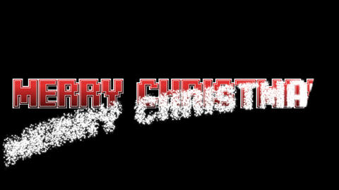 Merry Christmas with Alpha font 1 Animation