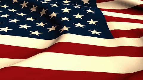 flag usa , endless loop Animation