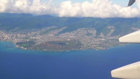 Flight above Oahu Hawaii in 4K Slow motion 60fps Live Action