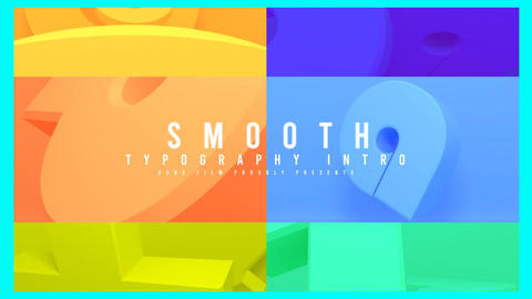 3d Object Smooth Typogarpy After Effects Template
