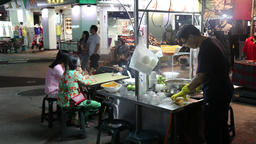 Lime jelly stall night market Kaohsiung Taiwan Footage