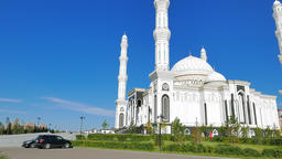Sights of Astana - Hazrat Sultan Mosque, Astana, Kazakhstan Footage