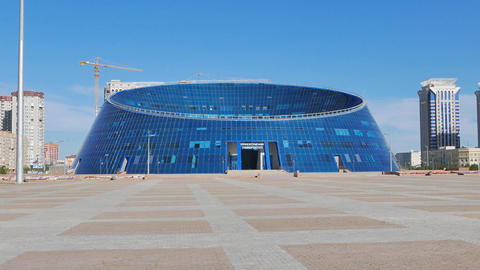 Astana, Kazakhstan - August 12, 2016: Kazakh National University of Arts Shabyt Footage