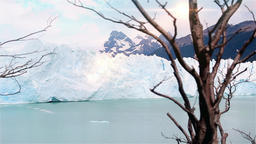 Perito Moreno Glacier And Sun Beams Footage