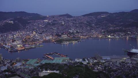 Port of nagasaki Night view 長崎港の夜景 ビデオ