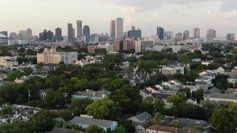 Aerial of magazine street new orleans louisiana 7 Live Action