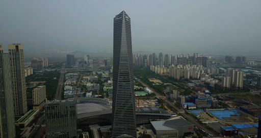 Aerial of oakwood premier incheon near songdo central park incheon south korea Live Action