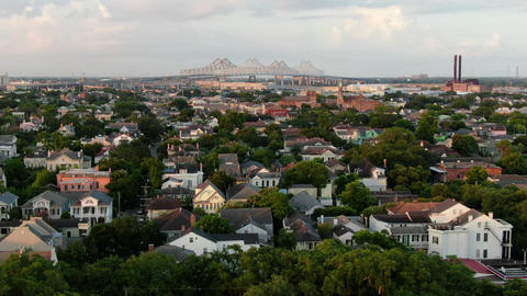 Aerial of magazine street new orleans louisiana 6 Live Action