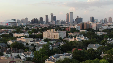 Aerial of magazine street new orleans louisiana 2 Live Action