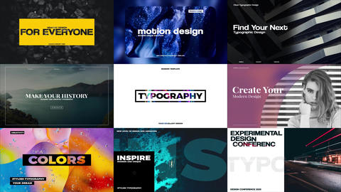 Stylish Typography After Effects Template