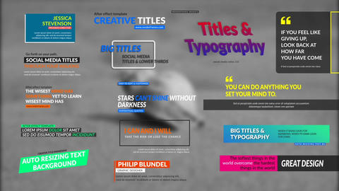 Social Media Titles 3 0 After Effects Template