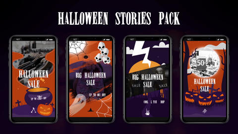 Halloween Stories Pack After Effects Template