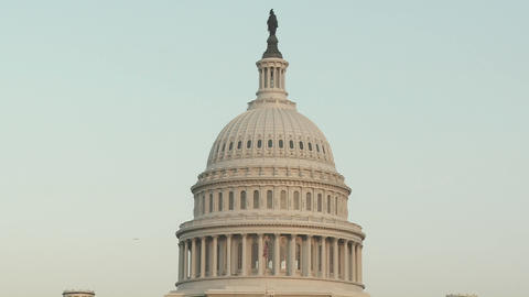 The Capitol Building in Washington DC Stock Video Footage