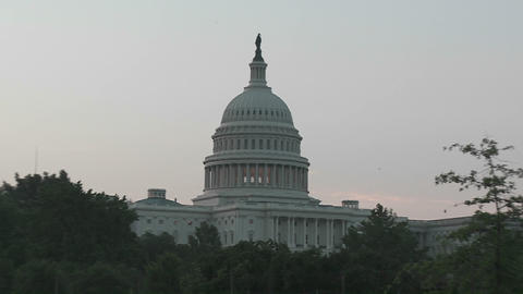 A fast zoom into the Capitol Building in Washington DC Footage