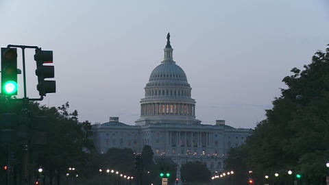 A slow zoom into the Capitol Building in Washington DC Footage