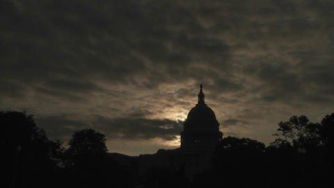 A timelapse of the Capitol Building in Washington DC Stock Video Footage