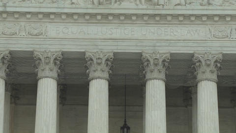 A zoom back from the Equal Justice Under Law sign at the... Stock Video Footage