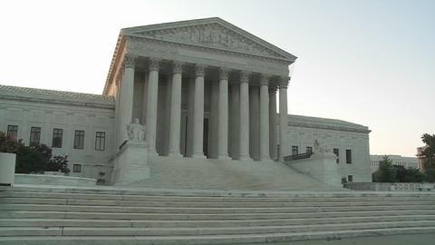 An establishing shot of the Supreme Court Building in…, Live Action