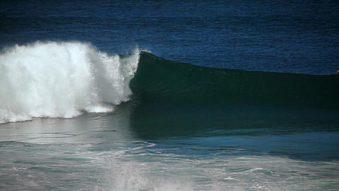 Surfer riding waves Footage