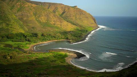 A beautiful shoreline of Hawaii Stock Video Footage
