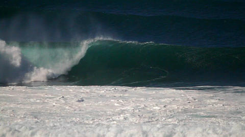Hawaiian big wave surfing Stock Video Footage