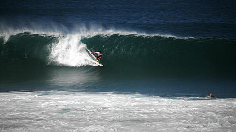 Hawaiian big wave surfing Stock Video Footage