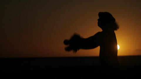 A Hawaiian man performs a traditional dance in fro Stock Video Footage