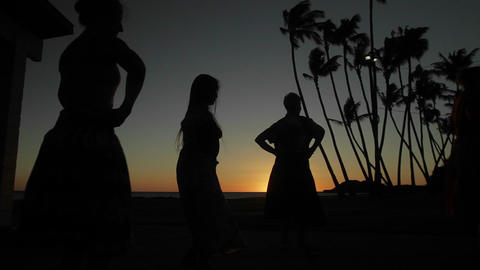 Dancer perform a traditional dance in front of the Stock Video Footage