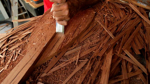 Tarot root is made by hand in Hawaii Stock Video Footage