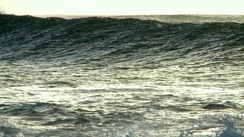 Large waves crest and break Stock Video Footage
