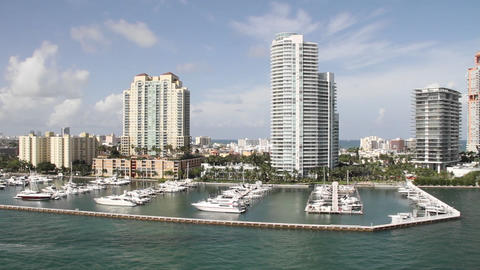 Wide shot Miami Florida high rise apartments from  Footage