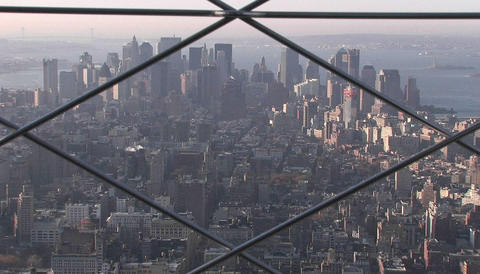 New York City from a very high angle Stock Video Footage
