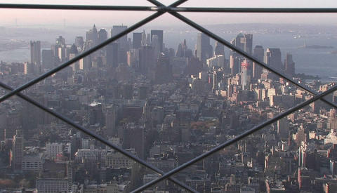 Binoculars in the observation deck of the Empire State... Stock Video Footage
