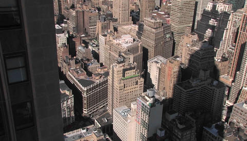 Time lapse of New York City from above Footage