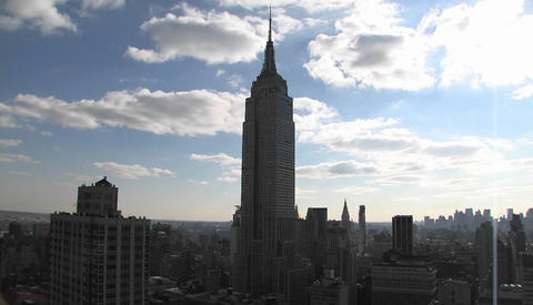 Time lapse of the Empire State building Stock Video Footage
