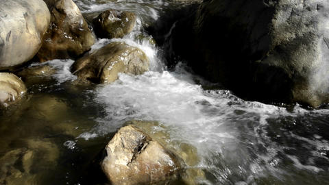 Clear and clean waterfall in San Antonio Creek in Stock Video Footage