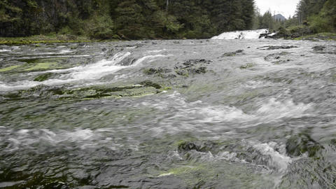Pavlof River flowing into Freshwater Bay in Pavlof Footage