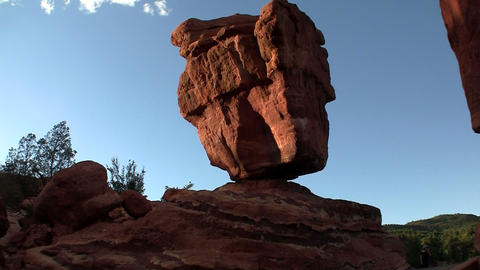A balancing stone in Canyonlands or Arches Nationa Stock Video Footage