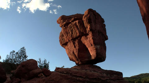 A balancing stone in Canyonlands or Arches Nationa Footage