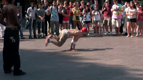 An editorial use only shot of Paris street dancers Footage