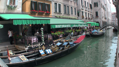 Grand Canal, Venice with a boat Footage