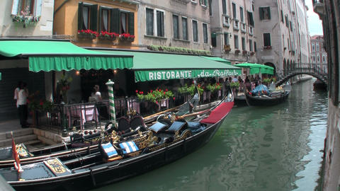 Grand Canal, Venice with a boat Stock Video Footage