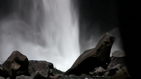 Beautiful waterfall near Fortuna, Costa Rica Stock Video Footage