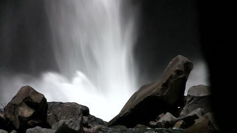 Beautiful waterfall near Fortuna, Costa Rica Stock Video Footage