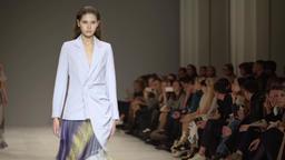 Fashion show models on catwalk Footage