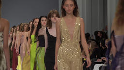 A group of models during fashion show Footage