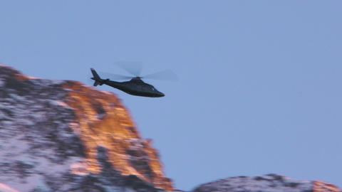 Helicopter Black Mountain Footage