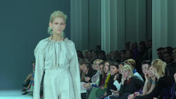 Models on the catwalk during the fashion show Footage